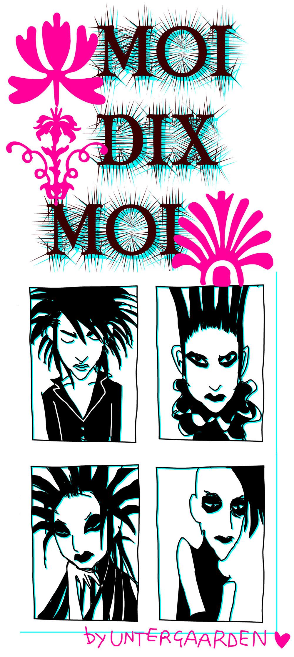 Dessin du groupe Japonais Moi Dix Moi