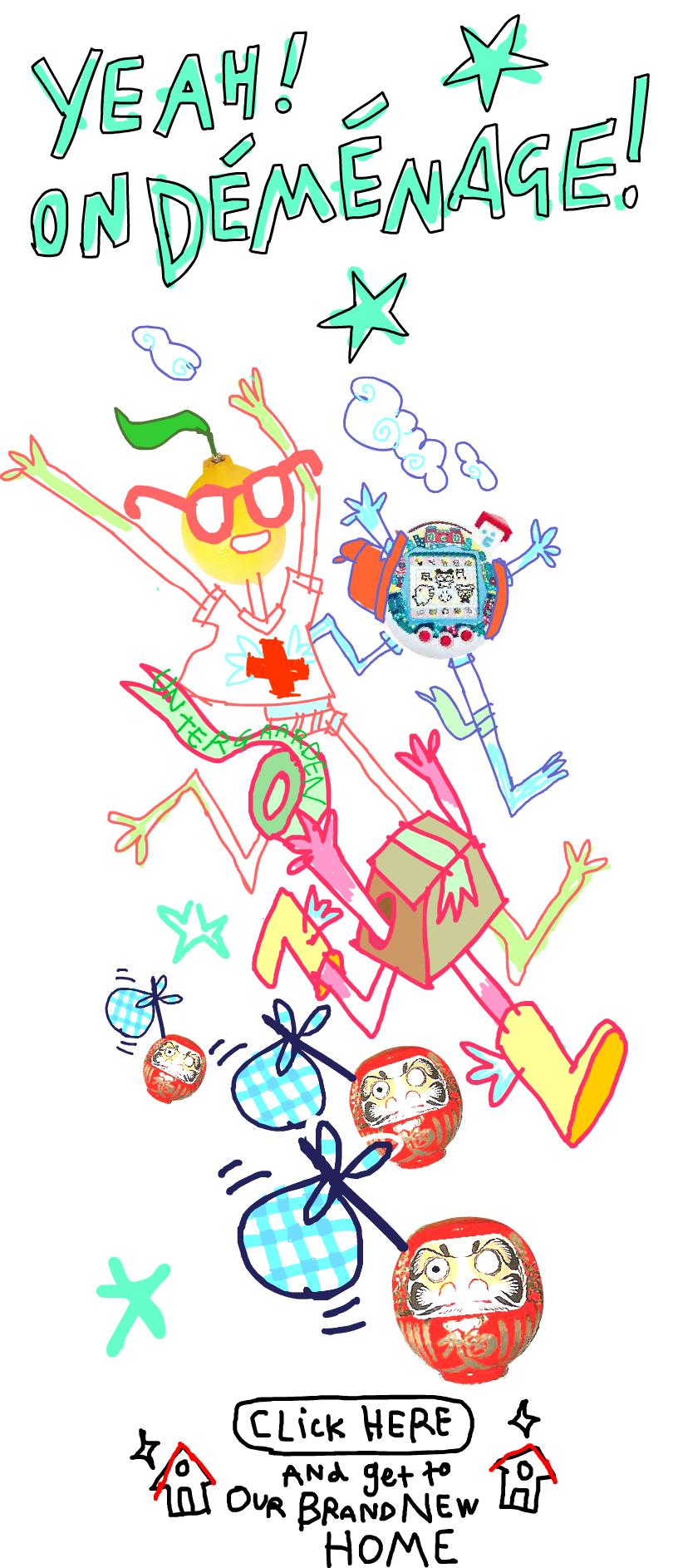 Tous les petits personnages joyeux courant
