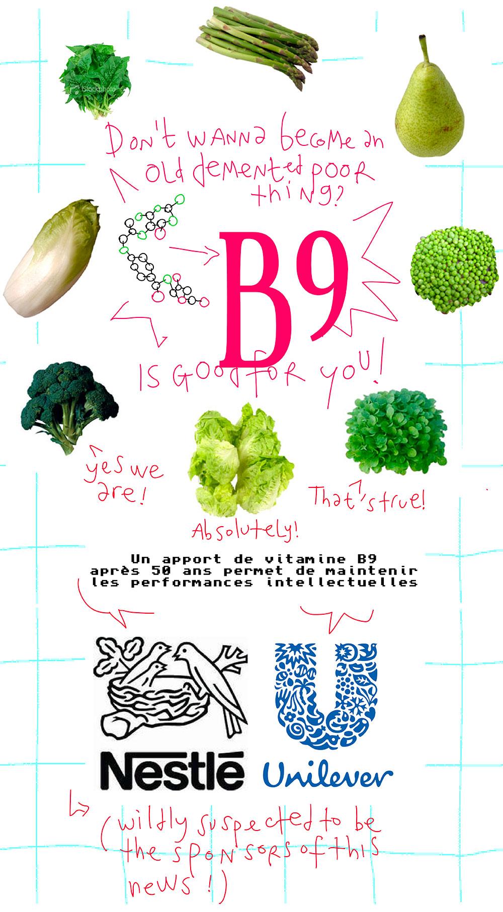 La vitamine B9 c'est fantastique