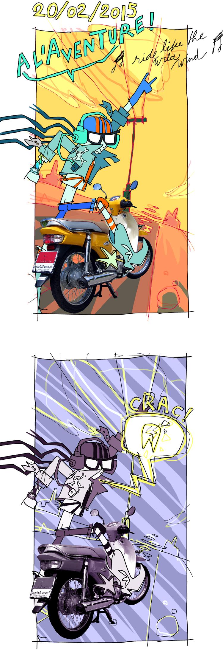 J'étais prête à partir à l'aventure, sur ma moto flamboyante... Quand une de mes dents a craqué